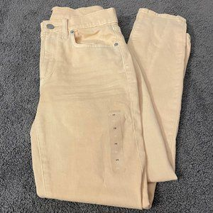 NWOT GAP True Skinny Ankle, Yellow Mid-Rise Jeans